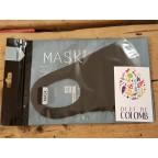 Masque fin noir/gris/rose