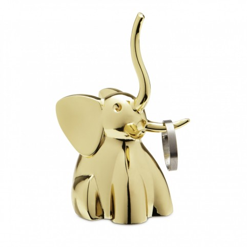 Porte bague éléphant rond cuivré
