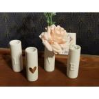 Mini vases LOVE porcelaine