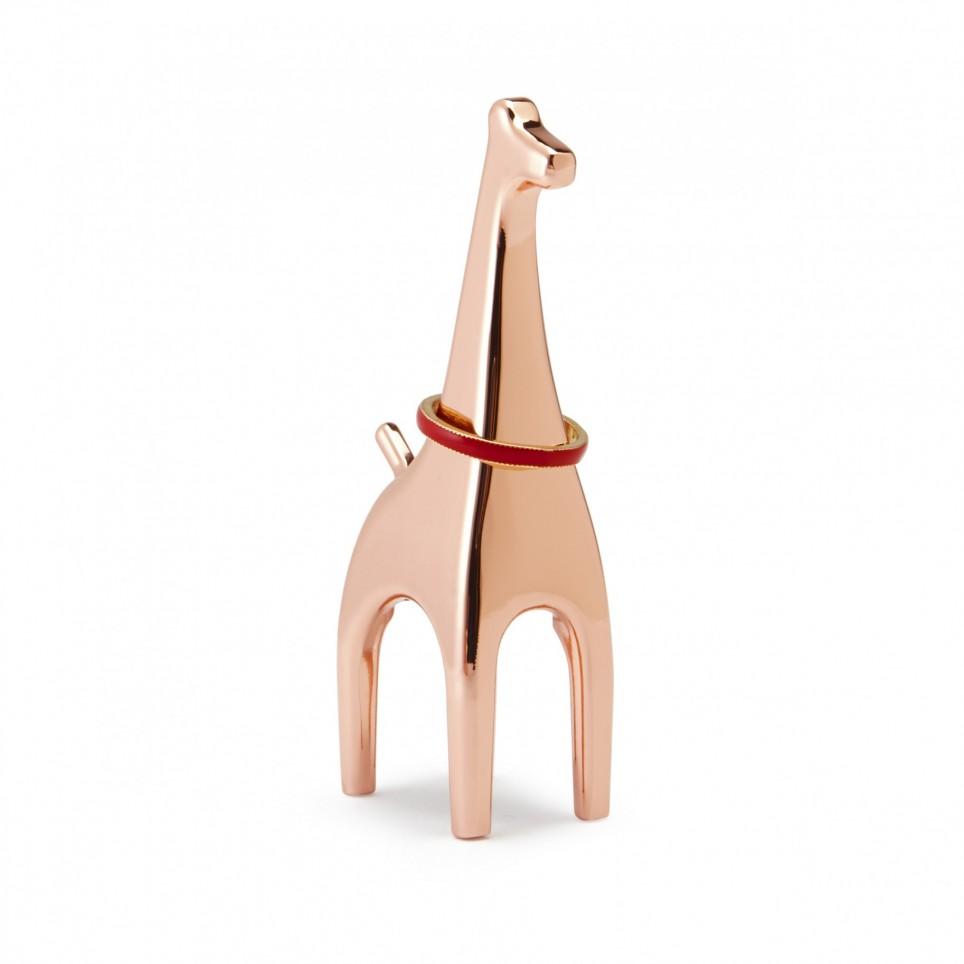 Porte bague giraffe fin cuivré