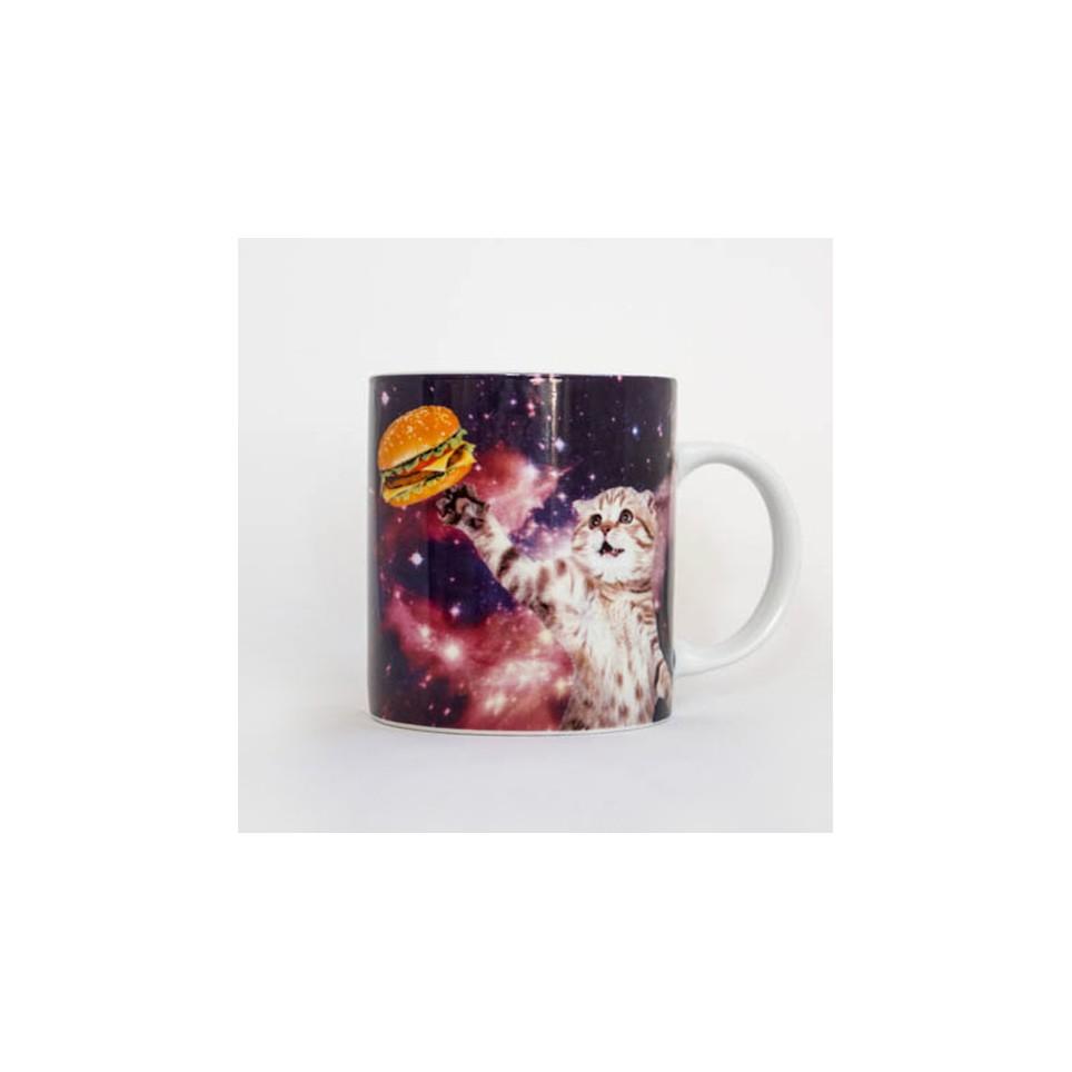 Mug chat dans l'espace