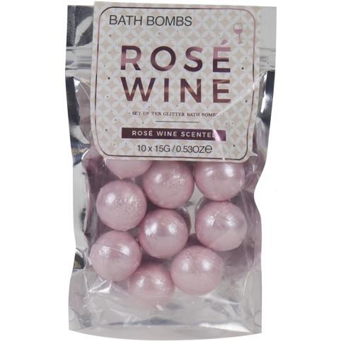 Vin rosé boules de bains