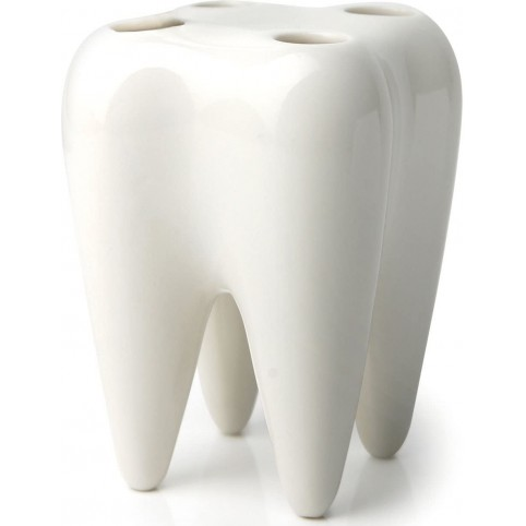Verre à dent blanc