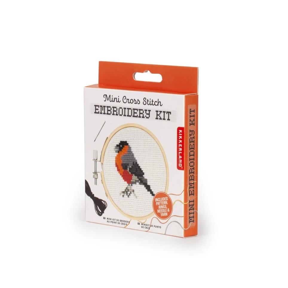 Kit de broderie mini point de croix - Oiseau