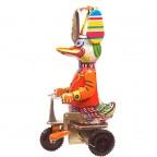 Canard sur vélo mécanique