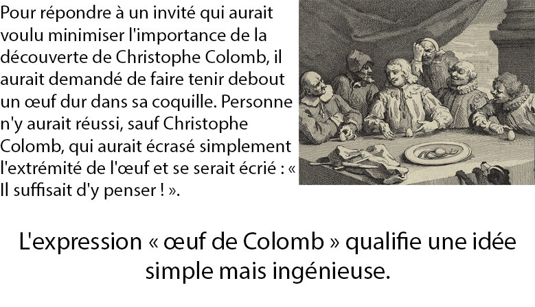 Expression Oeuf de Colomb